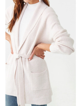 Belted Shawl Cardigan by Forever 21