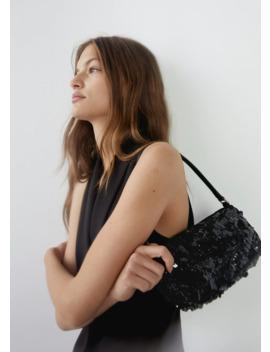 Sequins Baguette Bag by Mango