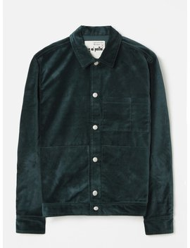 Universal Works X Oi Polloi Uniform Jacket In Petrol Salford Velvet by Universal Works