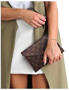 Pochette New Large Kirigami Envelope Brown Leather Clutch by Louis Vuitton