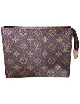 Brown Toiletry Pouch Pochette 19 Toilette Cosmetic Bag by Louis Vuitton