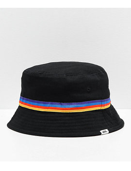 Vans Hankley Black &Amp; Rainbow Bucket Hat by Vans