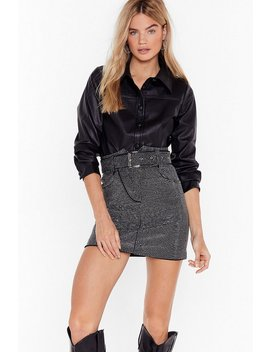 Go With The Faux Leather Shirt by Nasty Gal