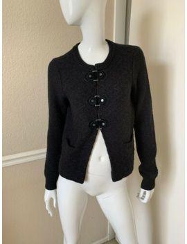 Tory Burch Black Wool/Alpaca Hook/Snap Front Knit Cardigan Sweater Jacket Sz M by Tory Burch