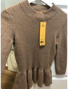 Tory Burch Sweater Top Nwt Ruffle Wiol Blend M Medium by Tory Burch
