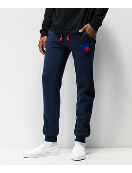 Russell Athletic Ernest Navy Jogger Sweatpants by Russell Athletic