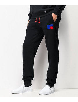 Russell Athletic Ernest Black Jogger Sweatpants by Russell Athletic