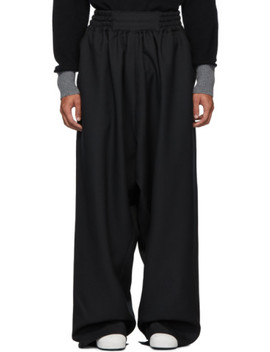 Black Boxing Lounge Pants by Random Identities