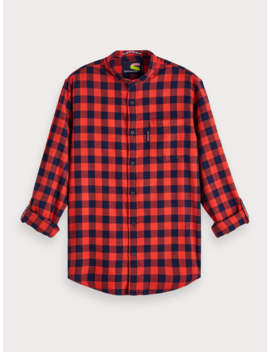 Flannel Gingham Shirt <Br> Regular Fit by Scotch&Soda