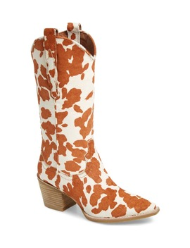Dagget Genuine Calf Hair Western Boot by Jeffrey Campbell