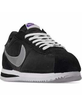 Nike Cortez Basic Shoes Los Angeles Black Silver White Ci9873 001 Men's New by Nike