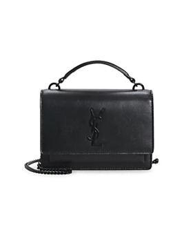 Sunset Leather Crossbody Bag by Saint Laurent