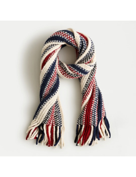 Striped Blanket Scarf With Fringe by J.Crew