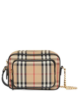 Vintage Check Cotton Camera Bag by Burberry
