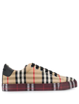 Vintage Check Sneakers by Burberry