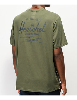 Herschel Supply Co. Classic Logo Olive T Shirt by Herschel Supply
