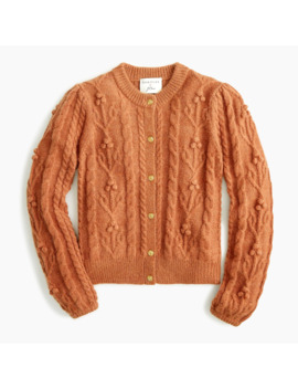 Demylee® X J.Crew Cable Knit Cardigan With Gold Buttons by Demylee