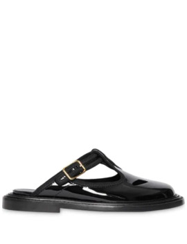Patent Leather T Bar Mules by Burberry