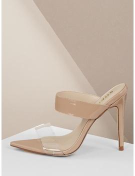 Open Pointy Toe Stiletto Mule Heels by Sheinside