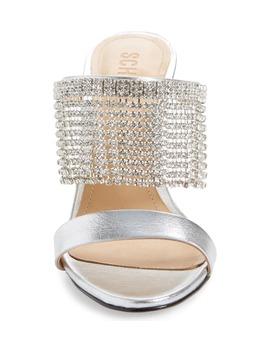 Sania Crystal Fringe Sllide Sandal by Schutz