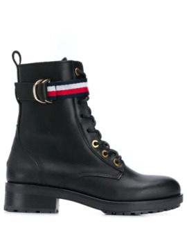 Lace Up Biker Boots by Tommy Hilfiger