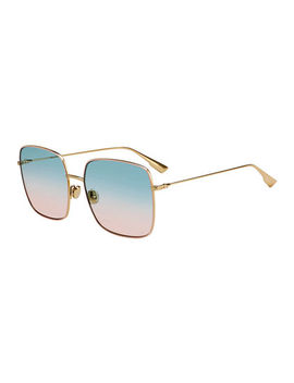 Diostellaire1 Square Metal Sunglasses by Dior