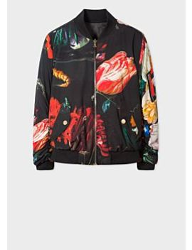 Men's 'new Masters' Print Reversible Bomber Jacket by Paul Smith