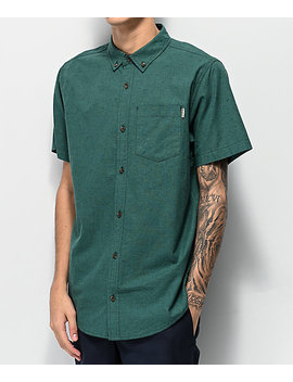 Dravus Alvin Sea Green Woven Short Sleeve Button Up Shirt by Dravus