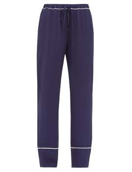 Contrast Trim Crepe Pyjama Trousers by Marni