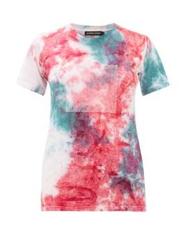 Recycled Crystal Logo Tie Dyed Cotton T Shirt by Germanier
