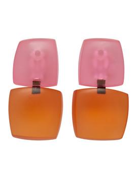 Orange & Pink Izzy Earrings by Monies