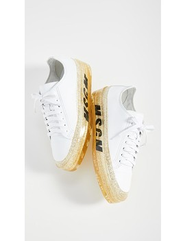 Glitter Sole Sneakers by Msgm