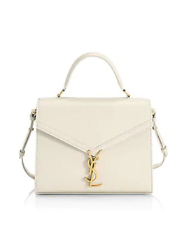 Medium Cassandre Leather Box Shoulder Bag by Saint Laurent