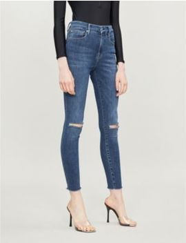 Good Flare Frayed Hem Slim Fit High Rise Jeans by Good American