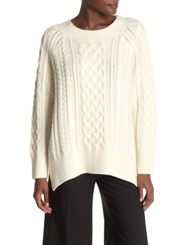 Cable Knit Wool Blend Tunic by Vince