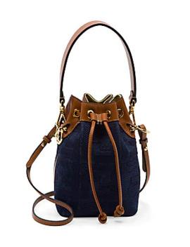 Mini Mon Tresor Denim Bucket Bag by Fendi