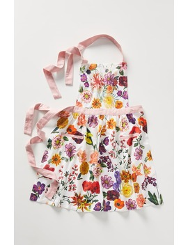 X Nathalie Lete Floral Cotton Apron by Anthropologie