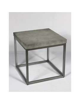 Emerald Home Onyx Concrete Finish End Table by Emerald Home Furnishings