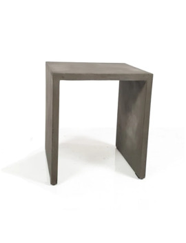 Modrest Creede Modern Grey Concrete End Table by Generic