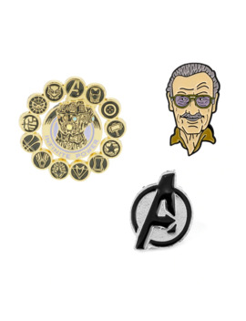 Marvel Stan Father Pin Brooches Enamel Lapel Pins Backpack Bags Badge Fans Bbrooch Fashion Jewelry Gift For Women Men by Ali Express.Com