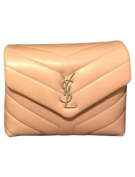 Monogram Loulou Pale Pink Calfskin Leather Cross Body Bag by Saint Laurent