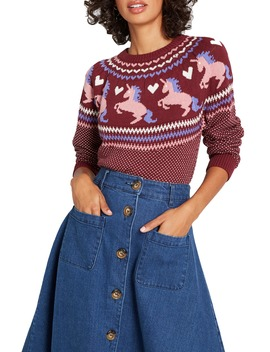 Unicorn Fair Isle Sweater by Modcloth
