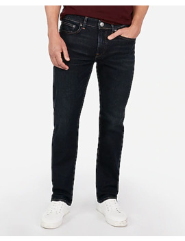 Classic Straight Dark Wash Hyper Stretch Jeans by Express