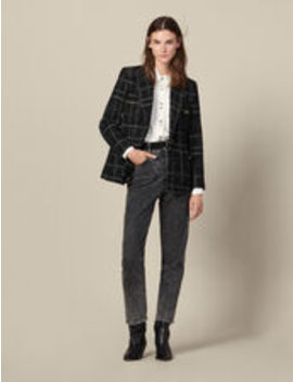Tweed Tailored Jacket by Sandro Eshop