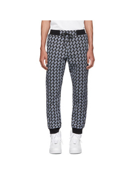 Black & Blue Logo Lounge Pants by Mcq Alexander Mcqueen