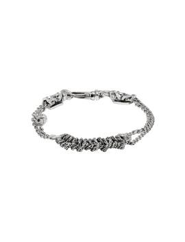 Silver Crochet Bracelet by Emanuele Bicocchi