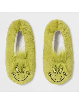 Women's Grinch Pull On Slipper Socks   Green by The Grinch