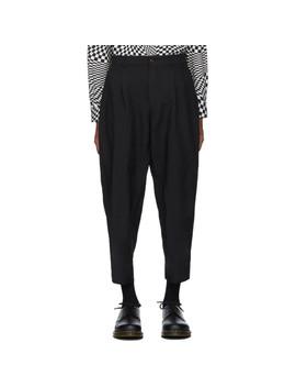 Black Double Cloth Trousers by Comme Des GarÇons Homme Deux