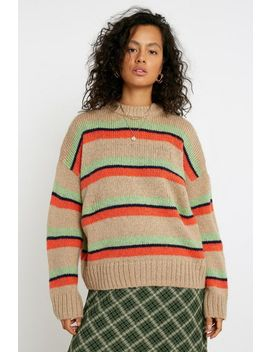 Uo Stripe Oversized Sweater by Urban Outfitters