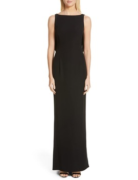 Satin Bow Back Trumpet Gown by Emporio Armani